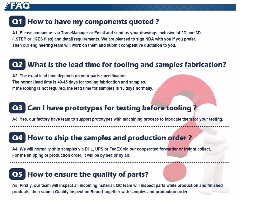 FAQ about plastic injection mould products